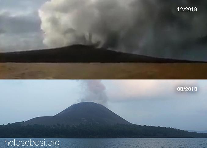 Anak Krakatau 08 and 12 2018