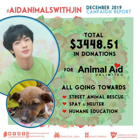 December 2019 Campaign Summary – Animal Aid Unlimited