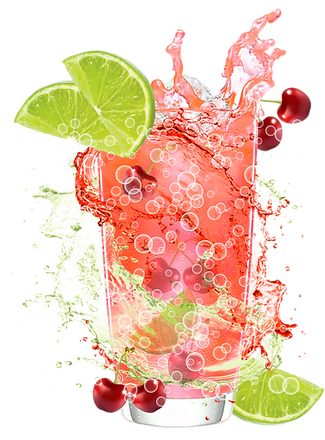 cherry limeade sparkling water