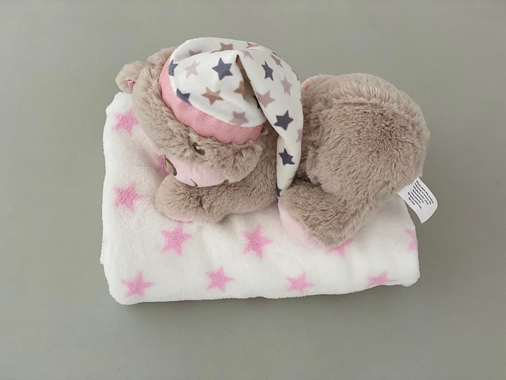 BABY GIRL BLANKET/ BEAR