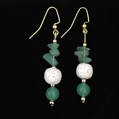Green Aventurine Aromatherapy Earrings
