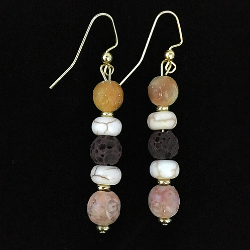 Soapstone and Howlite Essential Oil Jewelry