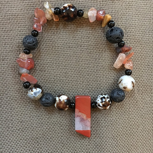 Red Jasper Essential Oil Diffuser Bracelet