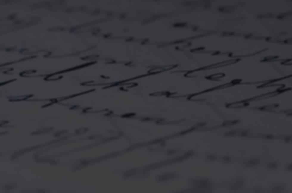 Image of slightly blurred cursive handwriting