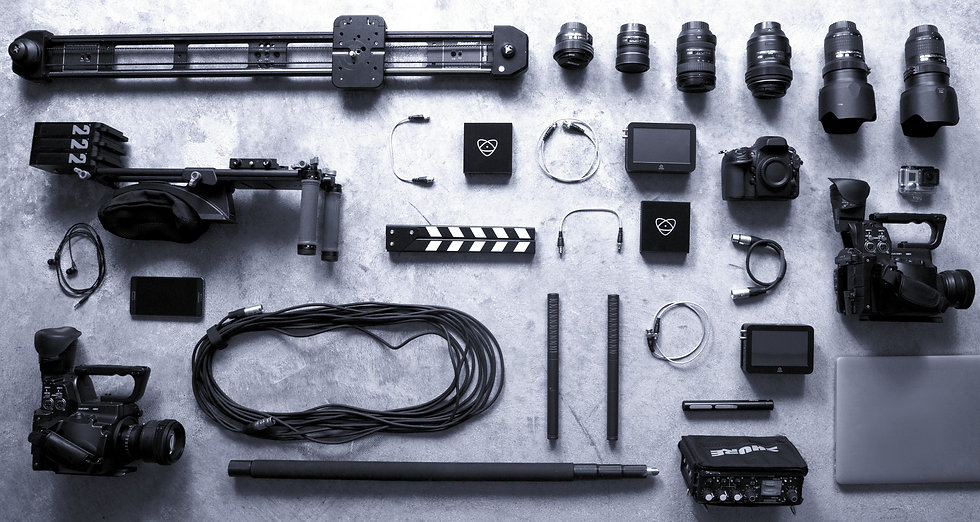 Image of film equipment laid out