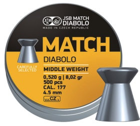 JSB MATCH MIDDLE WEIGHT  CAL. 177 4,5 MM 4,51
