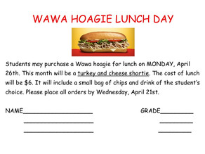 Wawa Hoagie Lunch Day