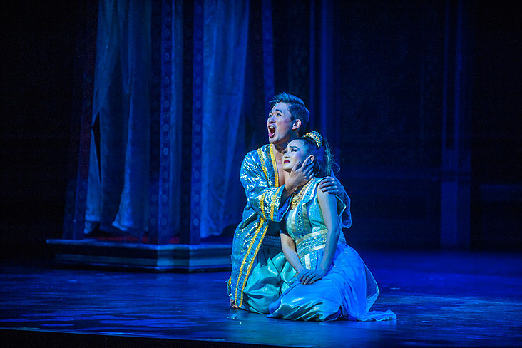 """Hugh Cha (차형진) as Lun Tha in the """"King and I"""" musical"""