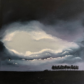 Caterpillar trees - Evening storm