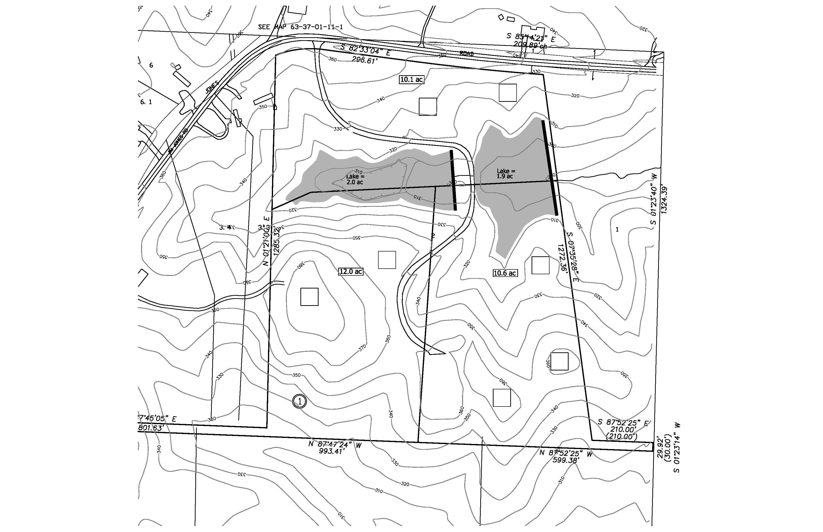 Jim Jones Road 10-foot contours