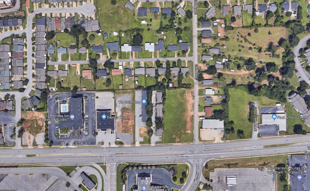 Aerial DB and Vacant Parcel