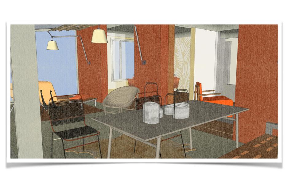 Rénovation d'une véranda par Silvia Violati, Décoratrice d'intérieur UFDI à Paris ( 9e et 10e )