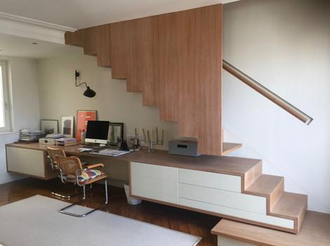 Duplex chambre parentale par Silvia Violati, Décoratrice d'intérieur UFDI à Paris ( 9e et 10e )