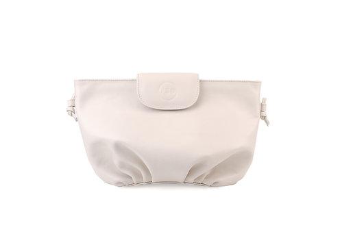 Cream ABO April soft clutch bag