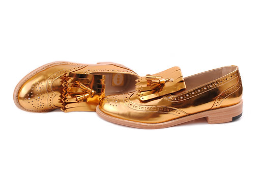 Gold ABO Kiltie Loafers (made to order)