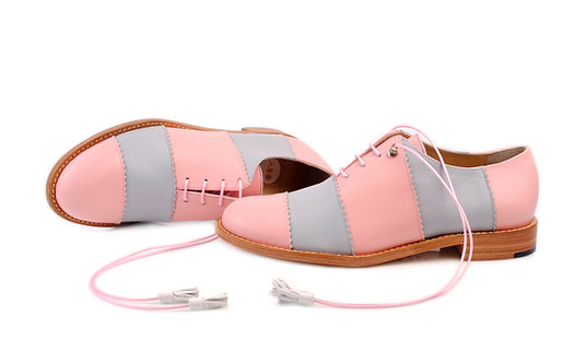 Pink & Grey Candy ABO Shoes (made to order)