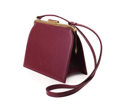 Burgundy ABO Ivy Clutch Bag