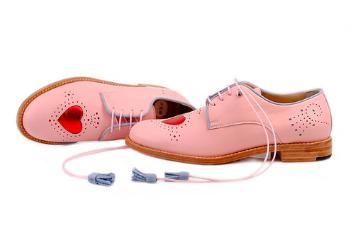 Pink Heart ABO Brogues (made to order)