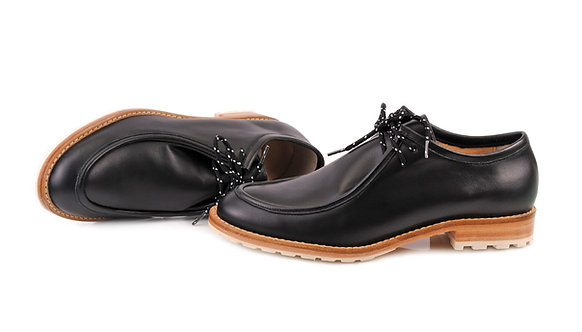 Black ABO Marlena Lace-Up Shoes