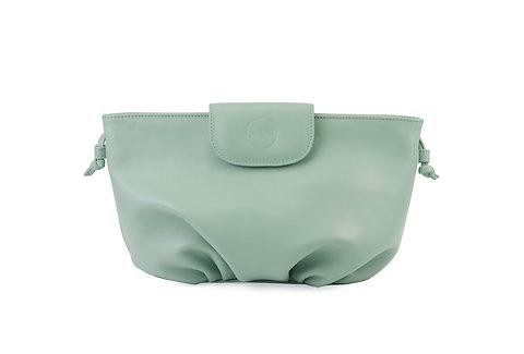 Light green ABO April soft clutch bag