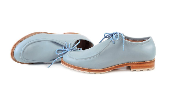 Blue ABO Marlena Lace-Up Shoes