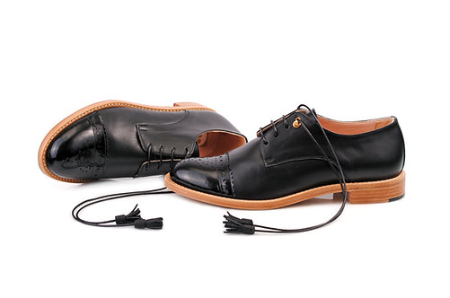 Black ABO Classic Brogues (made to order)