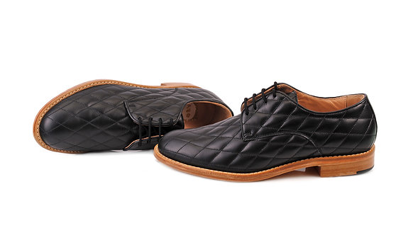 Black ABO Vera Quilted Derby Shoes