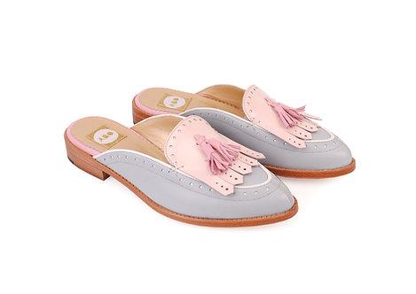 Grey & Pink Billie ABO Mules