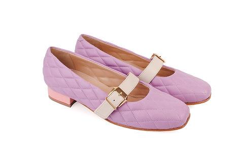 Lilac Cream & Pink ABO Stephanie Pumps