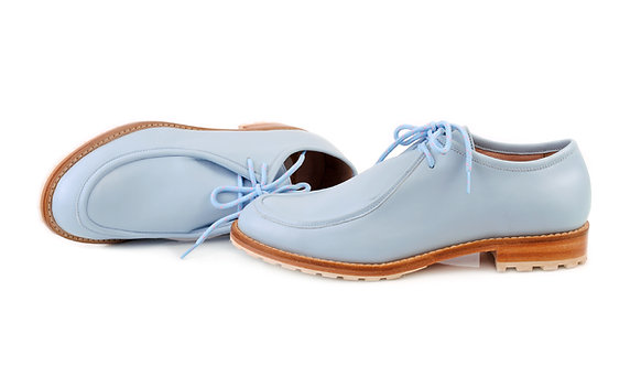 Ice Blue ABO Marlena Lace-Up Shoes