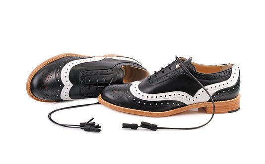 Black & White Dolly ABO Brogues (made to order)
