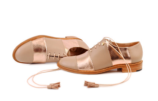 Light Brown & Gold Rose Candy ABO Shoes
