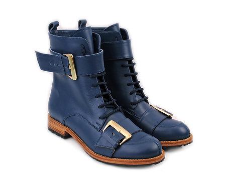 Navy Blue Olga ABO Boots
