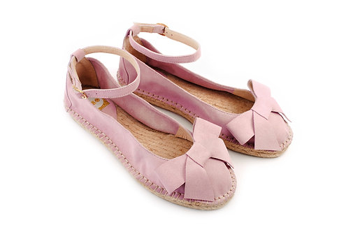 Powder Pink ABO Karmen Espadrilles (made to order)
