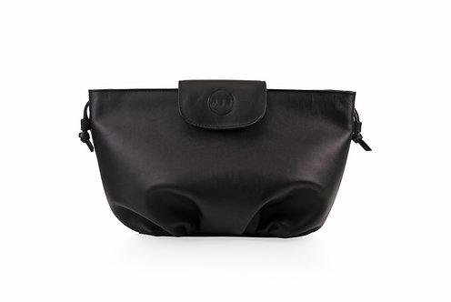 Black ABO April soft clutch bag