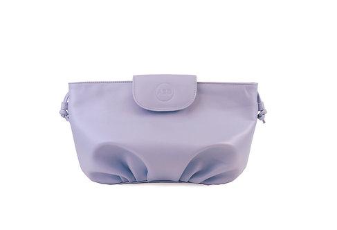 Lilac ABO April soft clutch bag