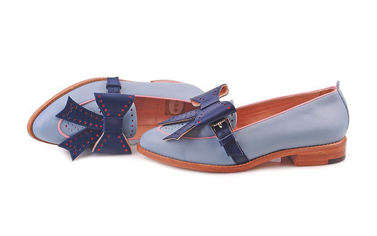 Blue ABO Bowie 2in1 Loafers (made to order)