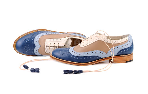 Blue Brown & Cream Dolly ABO Brogues