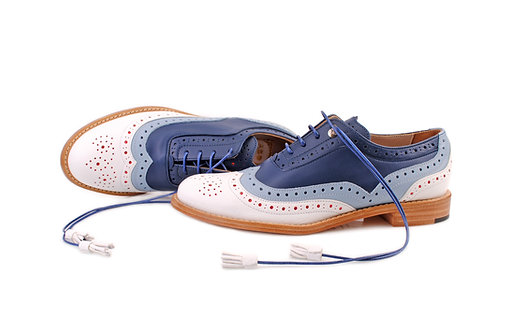 White & Blue Dolly ABO Brogues
