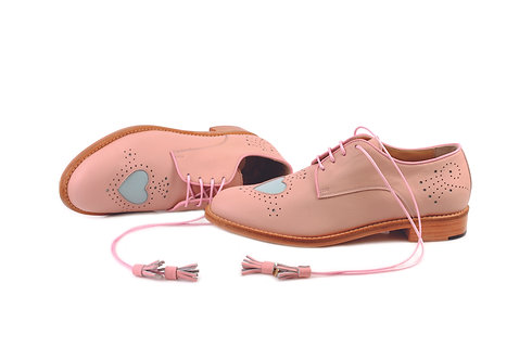 Beige Heart ABO Brogues (made to order)
