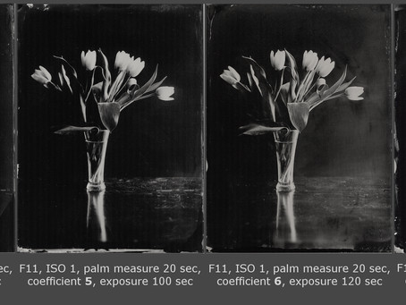 How to use a light meter making tintypes.