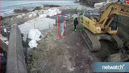 Netwatch In Action - Intruders on construction site run after audio warning
