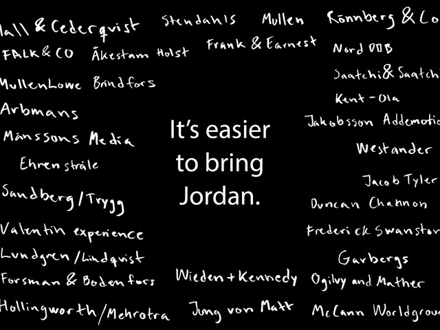Don't bring Jordan
