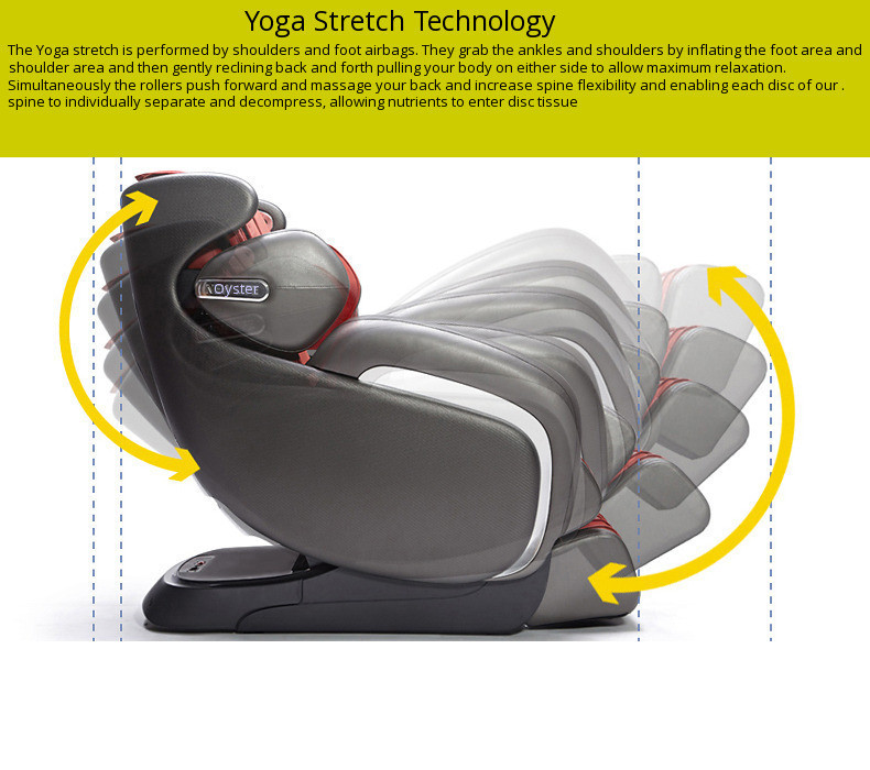 Massage chair yoga stretch