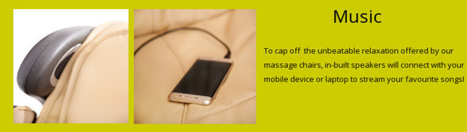 Massage chair with music