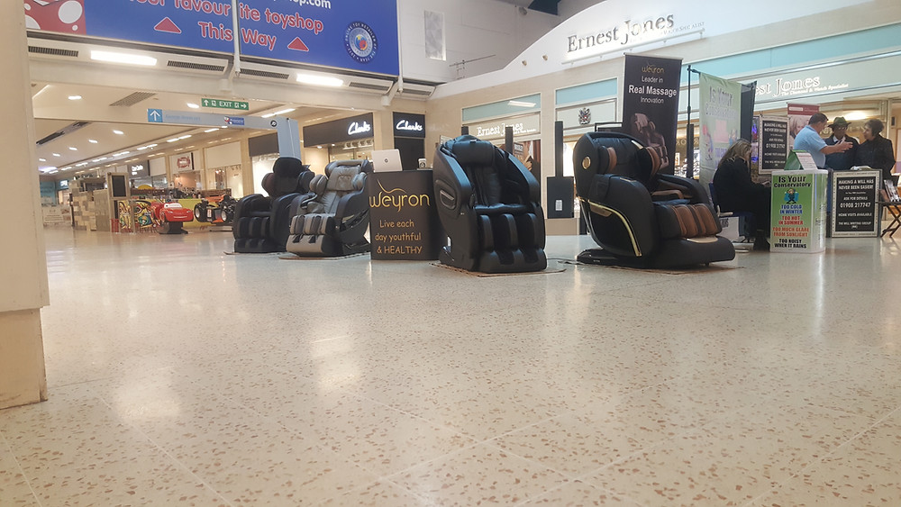 Weyron massage chairs at exhibition
