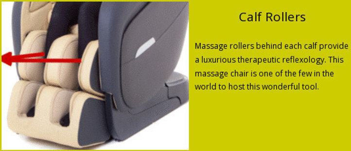 Massage chair with calf rollers