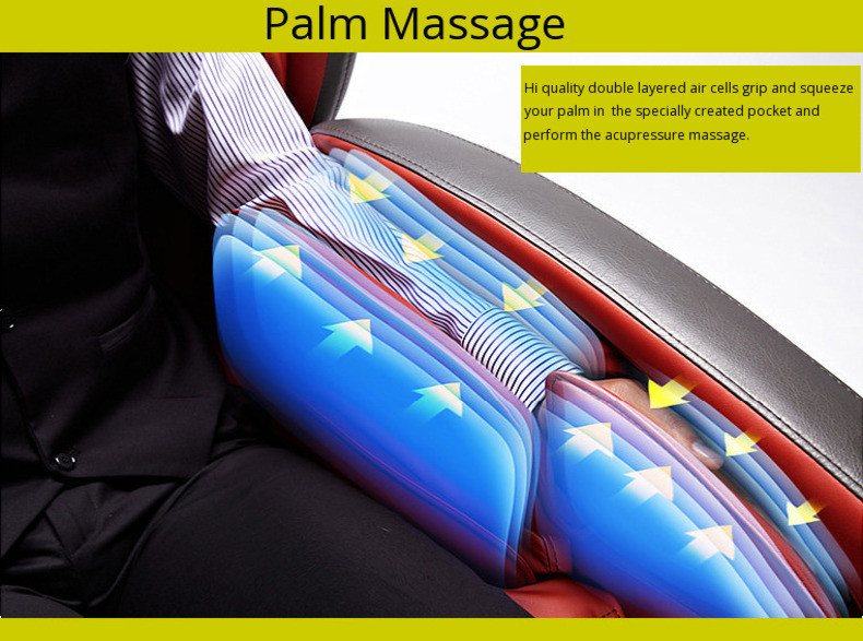 Massage chair with palm and hand airbags