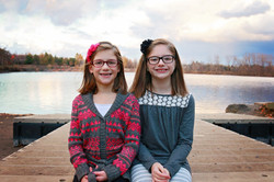 abby, 7y and emily, 11y