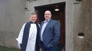 Rev Trevor Sargent invited to preach last weekend at Balscadden Church